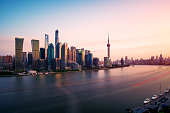 The Sunset of Lujiazui