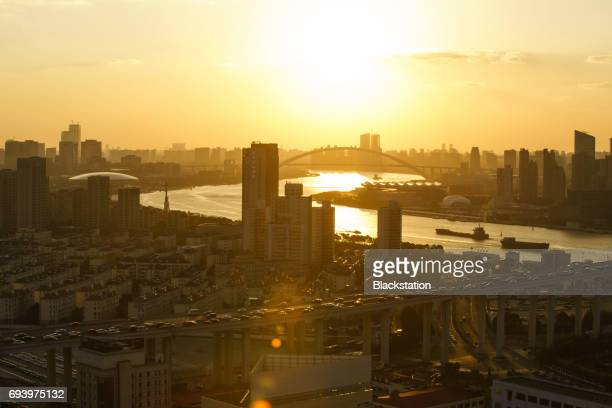 the Sunset of the Huangpu River