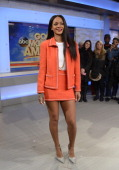 AMERICA The Super Bowl Boulevard Blowout festivities continue on GOOD MORNING AMERICA 1/28/14 airing on the ABC Television Network Rihanna promotes...