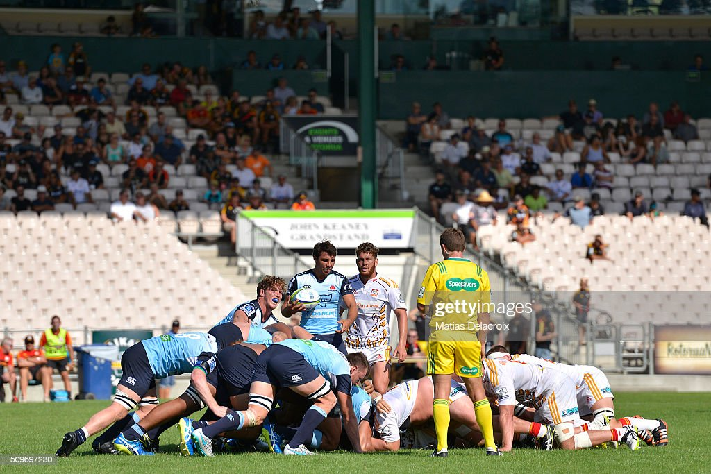 The Super Rugby trial match between the Chiefs and the Waratahs at Rotorua International Stadium on February 12, 2016 in Rotorua, New Zealand.