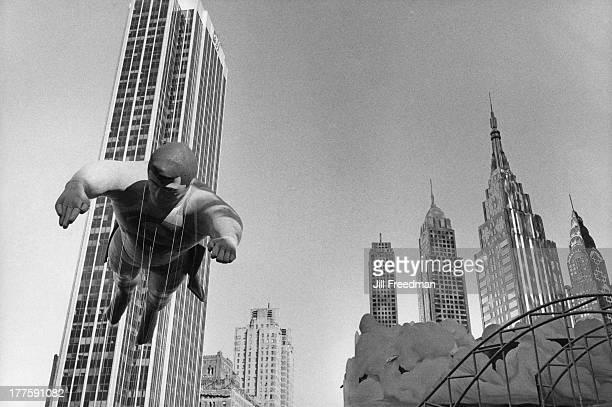 The 'Superman' balloon at the Macy's Thanksgiving Day Parade New York City November 1980