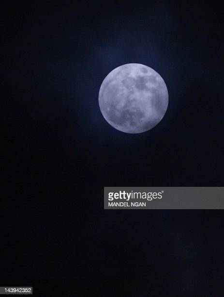The 'supermoon' is seen May 5 2012 from Chevy Chase Maryland The biggest and brightest moon of the year is due to the moon being at its closest point...