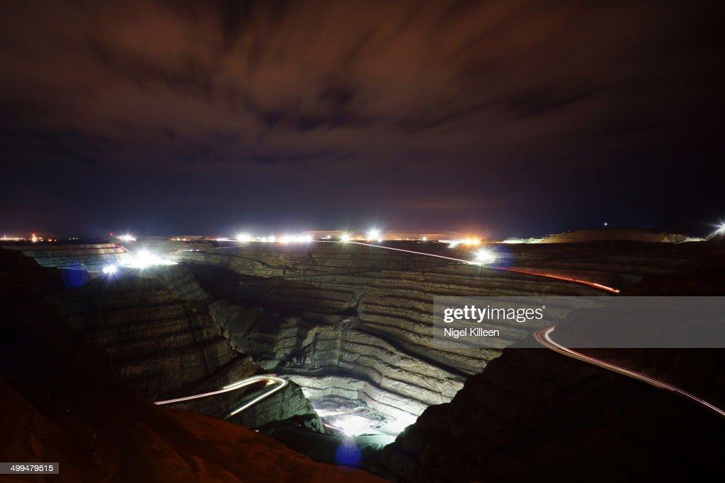 The Superpit Huge gold mine in Kalgoorlie Western Australia