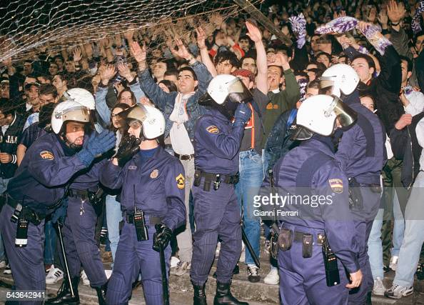 The supporters of the 'Front Ultra' of the Football Club 'Real Madrid' Madrid Spain