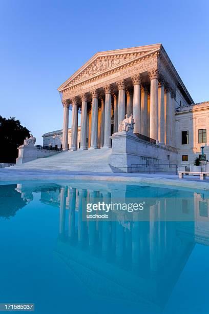 Die Supreme Court bei Sonnenuntergang