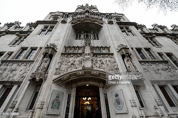 The Supreme Court where judges are to consider appeals over the 'bedroom tax' on March 1 2016 in London England Also known as under occupancy or the...