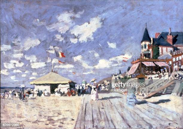 The Sur les planches de Trouville by Claude Monet which has not been seen by the public for 100 years and is expected to fetch between 4000 and 5000...