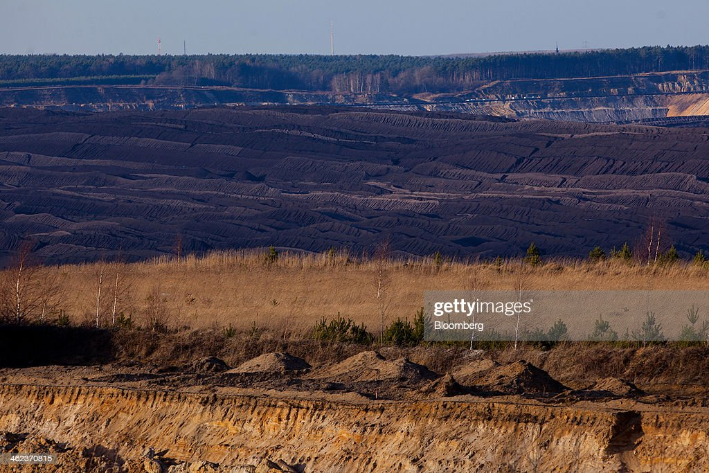 The surface terrain of an open-pit lignite mine, operated by Vattenfall AB, is seen in Welzow-Sued, Germany, on Saturday, Jan. 11, 2014. Across the continent's mining belt, from Germany to Poland and the Czech Republic, utilities such as Vattenfall AB, CEZ AS and PGE SA are expanding open-pit mines that produce lignite. Photographer: Krisztian Bocsi/Bloomberg via Getty Images