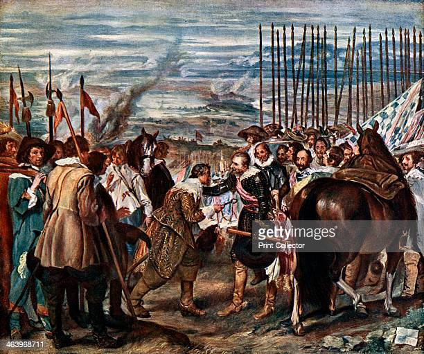 'The Surrender of Breda' June 2nd During the Dutch War of Independence Justin of Nassau hands the keys of the city of Breda to Ambrogio Spinola...