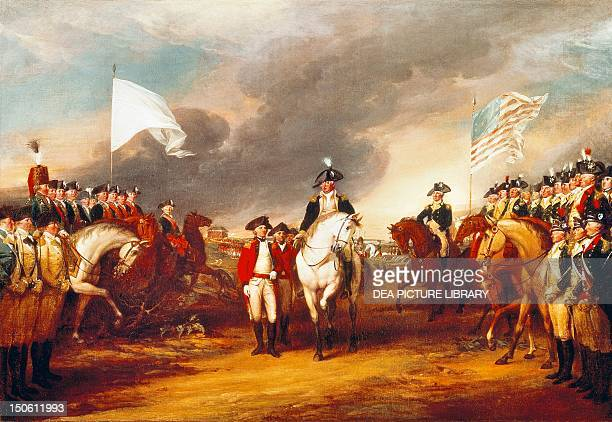 The surrender of Cornwallis at Yorktown October 19 by John Trumbull oil on canvas American War of Independence the United States 18th century