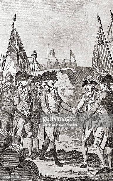 The Surrender Of Lord Charles Cornwallis At The Siege Of Yorktown In 1781 From The Book Short History Of The English People By JR Green Published...