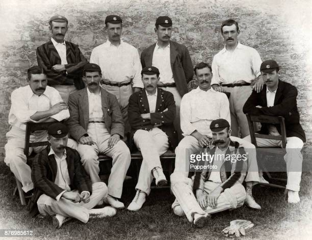 The Surrey County Cricket team circa 1893 Left to right back row Maurice Read Tom Hayward Bill Lockwood and Alfred Street middle row Walter Read Tom...