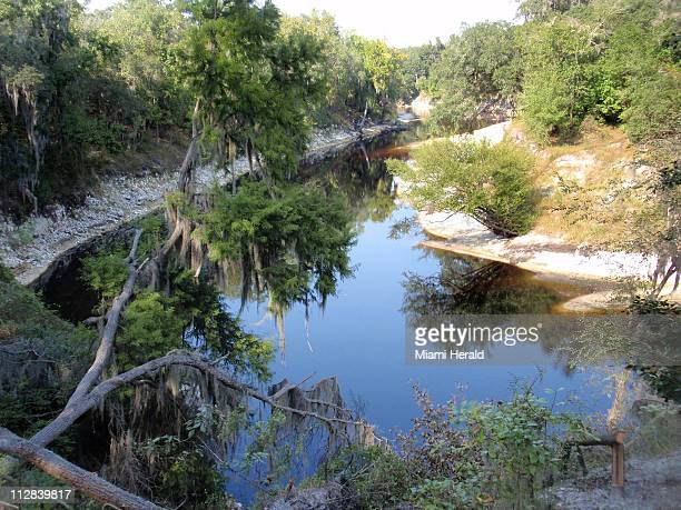 The Suwannee River curves through the landscape near White Springs Florida on October 12 2010