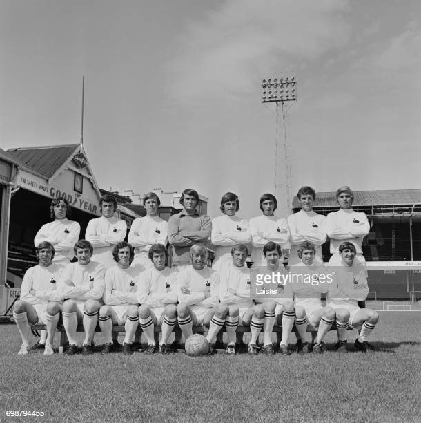 The Swansea City FC team UK 1st September 1971 From left to right Keith Evans Geoff Thomas Anthony Screen Tony Millington Wyn Evans Glen Davies...