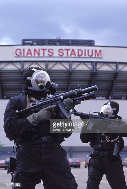 The 'swat' of FBI in training for the world cup of football In New York United States On June 08 1994