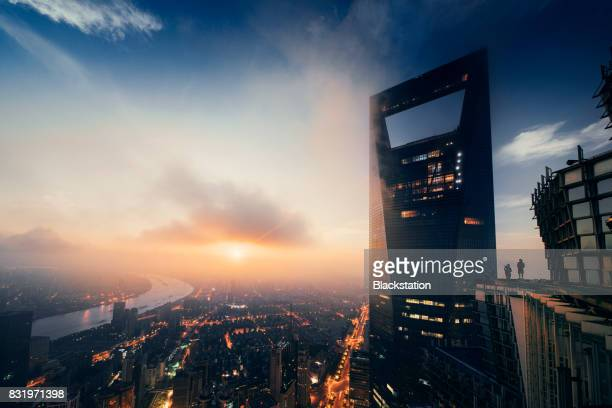 the SWFC tower in Shanghai