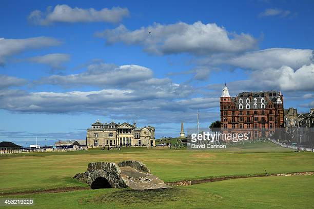 The Swilcab Bridge on the par 4 18th hole on the Old Course at St Andrews venue for The Open Championship in 2015 on July 29 2014 in St Andrews...