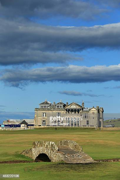 The Swilcab Bridge on the par 4 18th hole 'Tom Morris' on the Old Course at St Andrews venue for The Open Championship in 2015 on July 29 2014 in St...