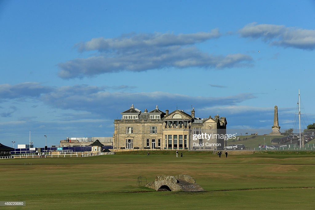 The Swilcan Bridge on the par 4, 18th hole on the Old Course at St Andrews venue for The Open Championship in 2015, on July 29, 2014 in St Andrews, Scotland.