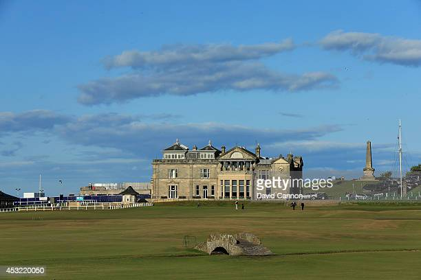 The Swilcan Bridge on the par 4 18th hole on the Old Course at St Andrews venue for The Open Championship in 2015 on July 29 2014 in St Andrews...