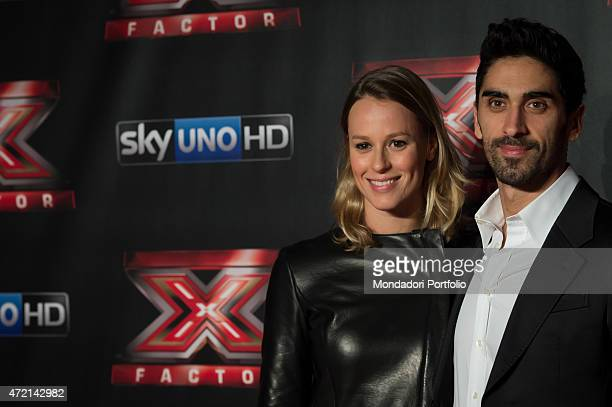 'The swimmers Filippo Magnini and Federica Pellegrini during the final of the the talent show X Factor Assago Italy 11th December 2014 '
