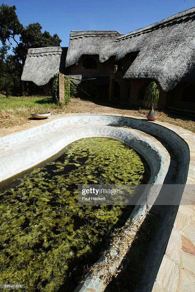 The swimming pool at Maryvale farmhouse which had been looted and destroyed by Zimbabweans trying to oust the local white farmers from Zimbabwe