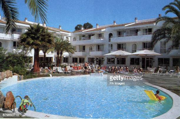 The swimming pool at the Puerto Pollensa resort Majorca where a father pulled his daughter from on Wednesday Hopes are fading that Gemma Briggs from...