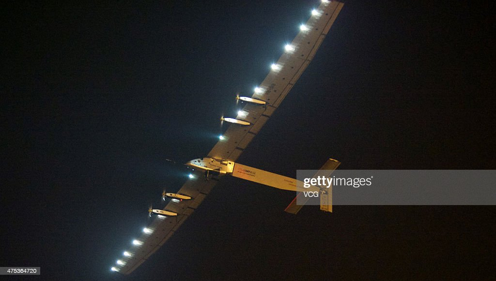 The Swiss-made solar-powered plane Solar Impulse 2 takes ...