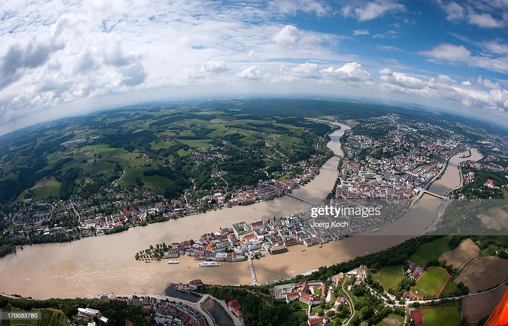 The swollen Danube river and the Inn river have flooded parts of the historical city of Passau on June 6 Germany Eastern and southern Germany are...