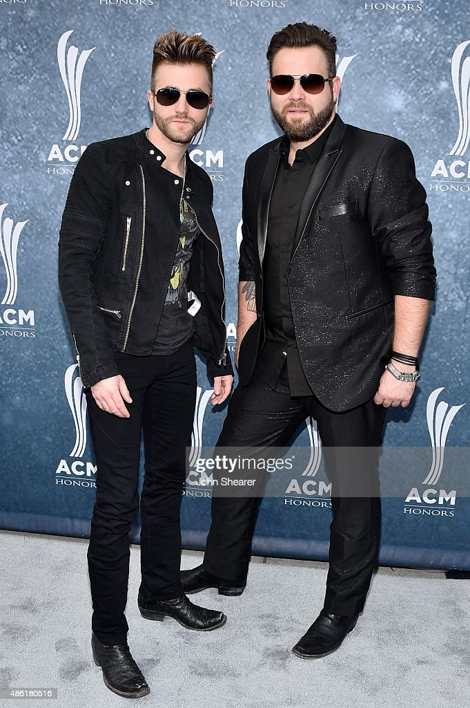 The Swon Brothers Colton and Zach Swon attend the 9th Annual ACM Honors at the Ryman Auditorium on September 1 2015 in Nashville Tennessee