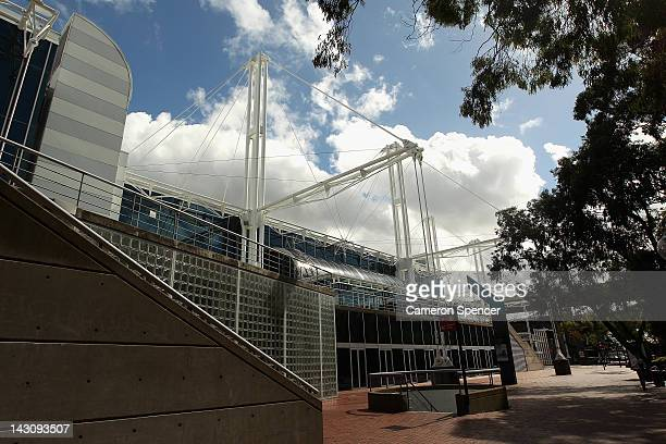 The Sydney Convention And Exhibition Centre is seen on April 19 2012 in Sydney Australia The Sydney Entertainment Centre Convention Centre and...