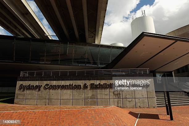The Sydney Convention Centre is seen on April 19 2012 in Sydney Australia The Sydney Entertainment Centre Convention Centre and Exhibition Centre...