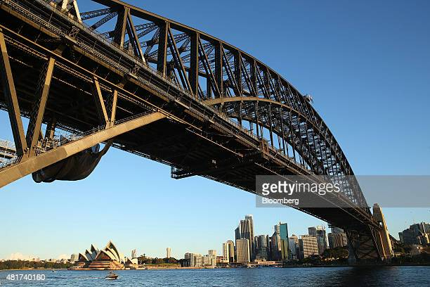 The Sydney Harbor Bridge stands in Sydney Australia on Tuesday July 21 2015 Tired hotels outdated attractions like Sydney's Darling Harbor and...