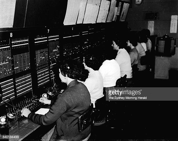 The Sydney Morning Herald switchboard in Sydney 22 May 1961 SMH NEWS Picture by TED GOLDING