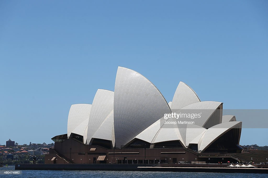 The Sydney Opera House is evacuated on December 15 2014 in Sydney Australia Police attend a hostage situation at Lindt Cafe in Martin Place Major...