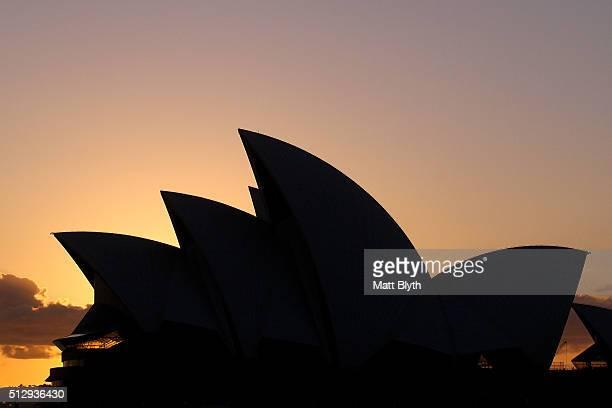 The Sydney Opera House is seen on February 29 2016 in Sydney Australia
