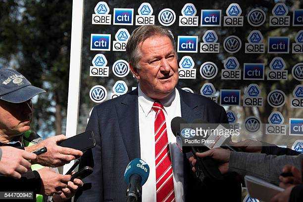 PARK SYDNEY NSW AUSTRALIA The Sydney Swans Swans CEO and Managing Director Andrew Ireland speaks to the media at the launch of their Reconciliation...