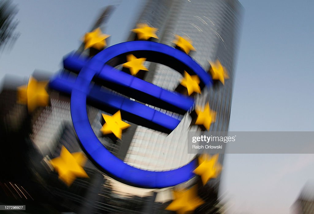 The symbol of the European common currency, the Euro, stands past the headquarters of the European Central Bank (ECB) on September 27, 2011 in Frankfurt am Main, Germany. Europe is continuing to wrestle with the ominous prospect of a Greek debt default that many fear could spread panic and push the already fragile economies of Italy, Portugal and Spain into a crisis that would rock the Eurozone and lead to global repercussions. On Thursday the Bundestag, under the urging of German Chancellor Angela Merkel, is expected to pass an increase in funding for the European Financial Stability Facility (EFSF), a measure many see as necessary for financial markets to regain confidence in the European banking system.