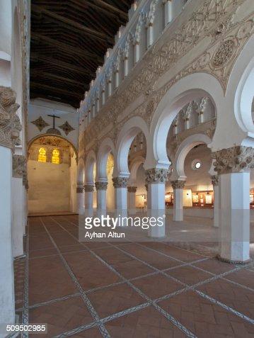 The Synagogue Of Santa Maria La Blanca Toledo Stock Photo ...