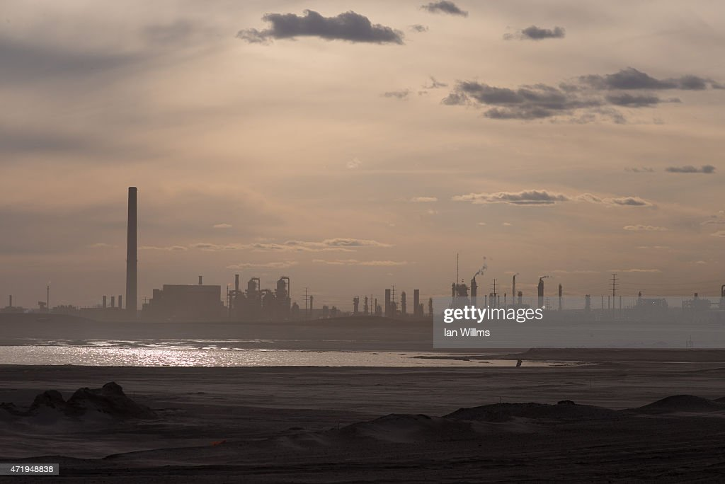 The Syncrude oil sands site on April 27th 2015 outside of Fort McMurray Canada Fort McMurray is currently coping with an economic downturn as a...