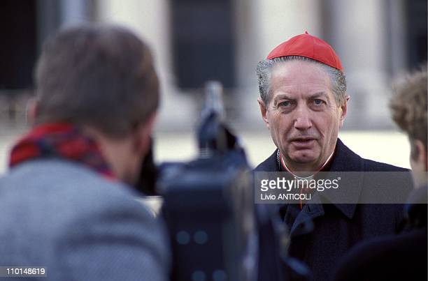 The Synod of Bishops at Vatican in Rome Italy on November 28 1991 Carlo Maria Martini