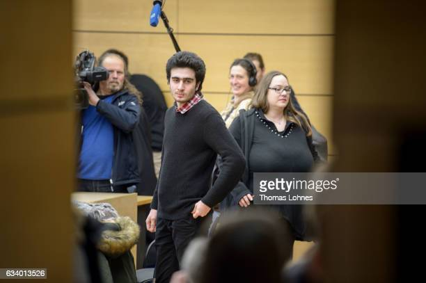 The Syrian refugee Anas Modamani waits for the beginning of the court session over his lawsuit against Facebook at the Landgericht courthouse on...