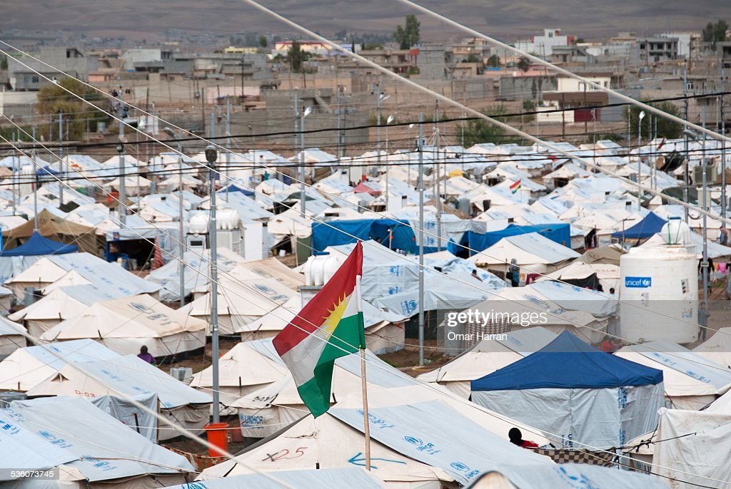 The Syrian refugee camps outside the city of Erbil Iraq This camp was quickly built in late 2013 and is already full in matter of months More camps...