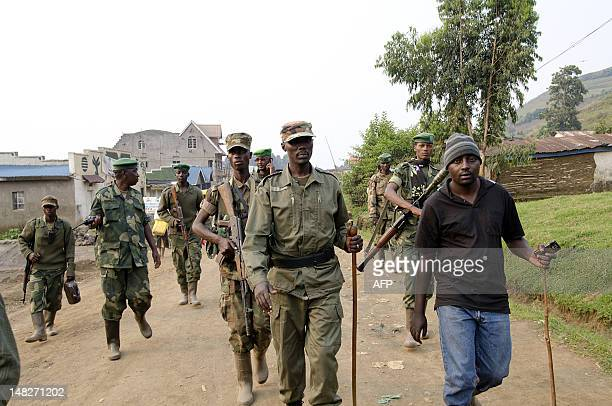 STORY 'The taineted past of DR Congo's mutinous leaders' Colonel Sultani Makenga head of the rebel M23 group tours Bunagana a town near the Ugandan...