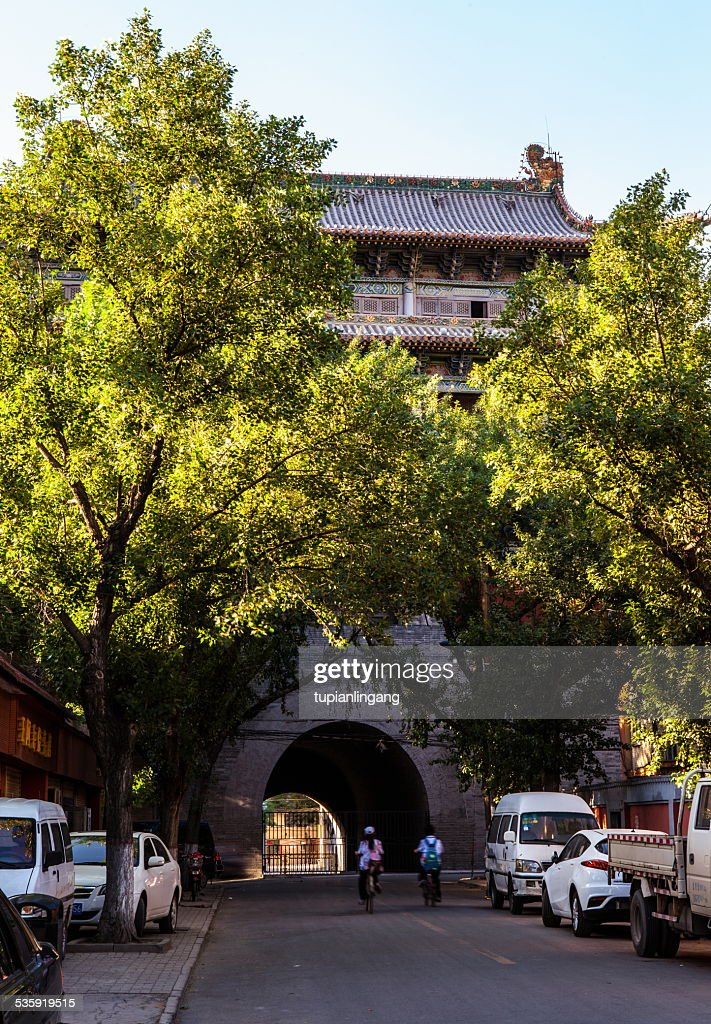 The Taiyuan city landmark building- Small North Gate : Stock Photo
