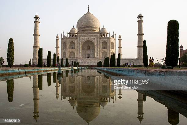 The Taj Mahal is seen from the South on May 28 2013 in Agra India Completed in 1643 the mausoleum was built by the Mughal emperor Shah Jahan in...