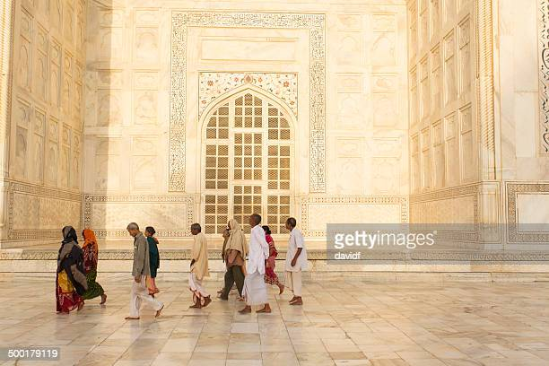 The Taj Mahal Tourists