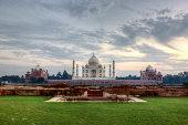 The Taj Mahal viewed from Methab Bagh