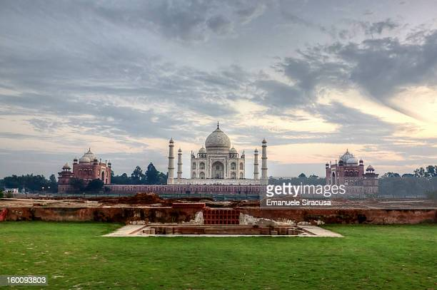 The Taj Mahal viewed from Methab Bagh