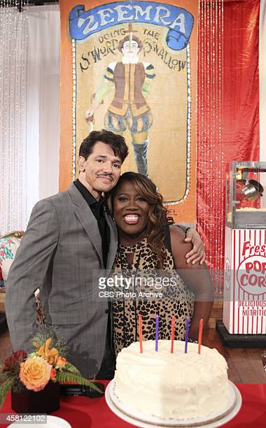 The Talk celebrates Sheryl Underwood's birthday on Tuesday Oct 28 2014 on The Talk on the CBS Television Network From left Sheryl Underwood and El...